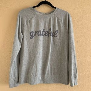 "Sweaters - 3/$25 🛍 ""Grateful"" Graphic Crew Neck Sweater"